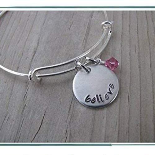 Hand-Stamped Bangle Bracelet