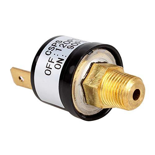 Mintice - Interruptor de control de presión de 12 V PSI, válvula de compresor de aire, bomba de cuerno, regulador de tren, beige