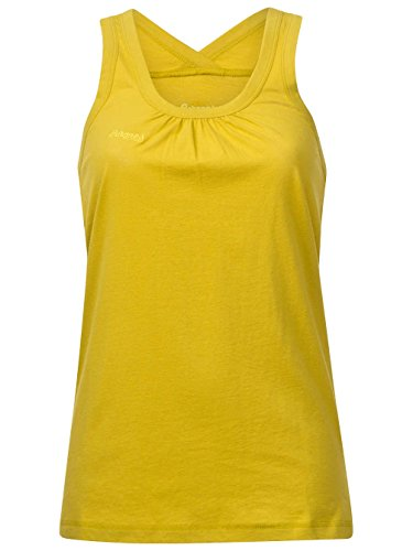 Bergans Jomfruland Lady Singlet Größe M yellowgreen