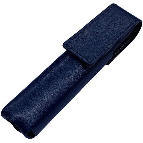 IQOS 3 専用 アイコス3 ケース (ネイビー) iQOSケース シンプル 無地 保護 カバー 収納 カバー 全13色 電子たばこ 合皮PUレザー