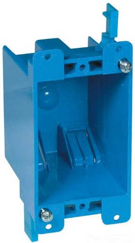 Carlon B114R-UPC Switch/Outlet Box, Old Work, 1 Gang, 4-1/8-Inch Length by 2-1/4-Inch Width by 2-3/4-Inch Depth, Blue
