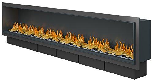 Muenkel design Wall Fire Electronic [Opti-myst Heat elektrische open haard inbouw]: 2650 mm - 6.000 Watt verwarmingsvermogen