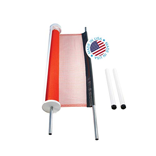Kidkusion Retractable Driveway Guard, Orange, 25' | Driveway Safety; Outdoor; Barrier; Adjustable