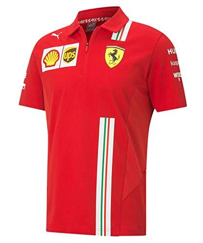 [ Scuderia Ferrari ] スクーデリア フェラーリ F1 Team 2020 オフィシャル レプリカポロシャツ (XL身幅60cm着丈77cm)