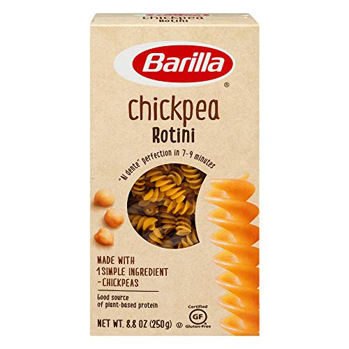 Barilla Chickpea Rotini Pasta, 8.8 Ounce (Pack of 10) - Plant Based Protein Pasta - Naturally Gluten Free Pasta - Chickpea Pasta - Vegan Pasta