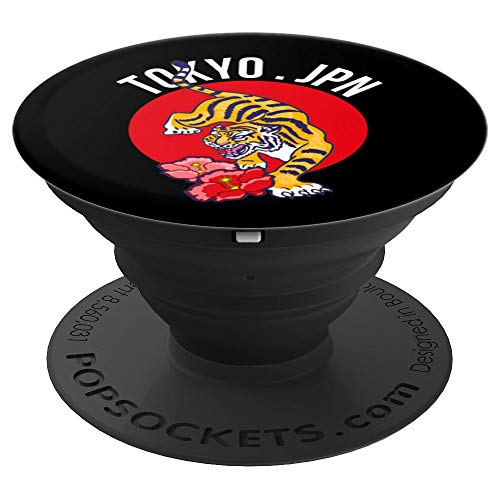 Retro Tokyo Japan Tiger PopSockets Grip and Stand for Phones and Tablets