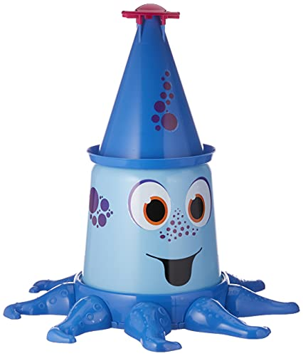 BIG-Aqua-Nauti, Wassersprinkler mit bis zu 4 Meter hohem Strahl, Gartensprinkler für Kinder in Krakenform, genormter Schlauchanschluss mit Dichtung, für Kinder ab 3 Jahren