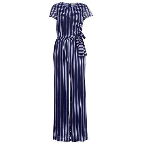 Michael Michael Kors Mega Railrd St Jmpst Overalls/Latzhosen Damen Marine/Weiss - DE 32 (T0) - Overalls/Latzhosen Dress