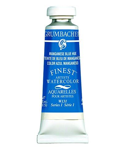 Grumbacher Finest Watercolor Paint, 14ml/0.47 oz., Manganese Blue Hue (W131)