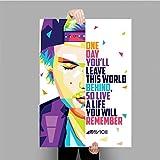 NOVELOVE Avicii Music Singer DJ Star Poster Wandkunst Bild