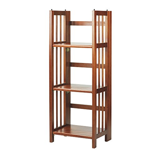 Casual Home 3-Shelf Folding Bookcase (14' Wide)-Mahagony