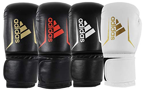 adidas Adultos Speed 50 adisbg50 Guantes de Boxeo, Color Negro/Blanco, 14 oz