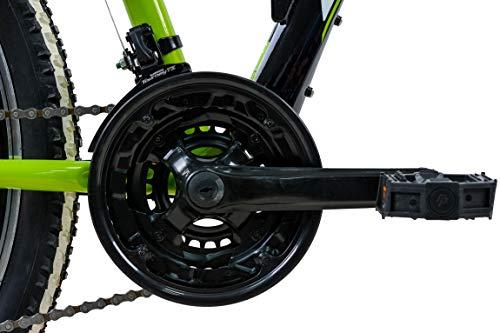 KCP Mountainbike Fully MTB Jugendrad 26″ Zoll Fairbanks mit 21G Shimano Vollfederung schwarz grün - 5