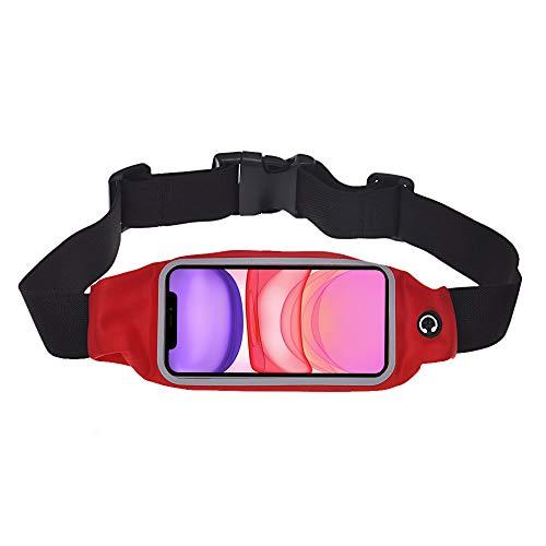 Banda de cintura para iPhone 11 – para ejercicio, correr, ciclismo, gimnasio, deporte y más banda de cintura para teléfono iPhone 11 (rojo)