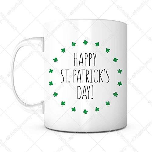 Happy St. Patrick Dag Ik Leid Gratis Keramische Koffie Mok Theekop Witte Keramische Bekers