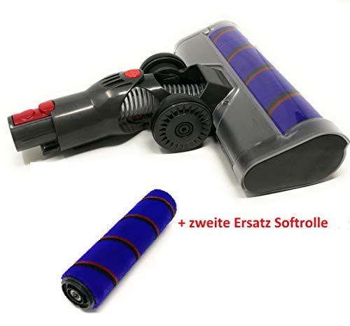 Navi+ Turbo Brush - Cepillo para aspiradoras Dyson V7, V8, V10, V11 Turbo Brush mit Softrolle