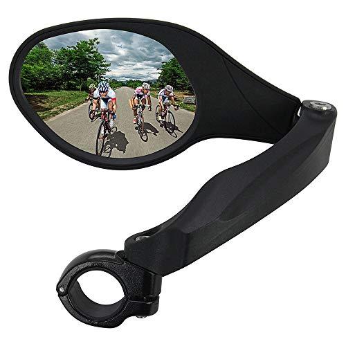 Arkham Fahrradspiegel Rückspiegel Generation 2.0 Einzelne Ellipse Links,HD Edelstahl Spiegel(1 Stück Links Ellipse)