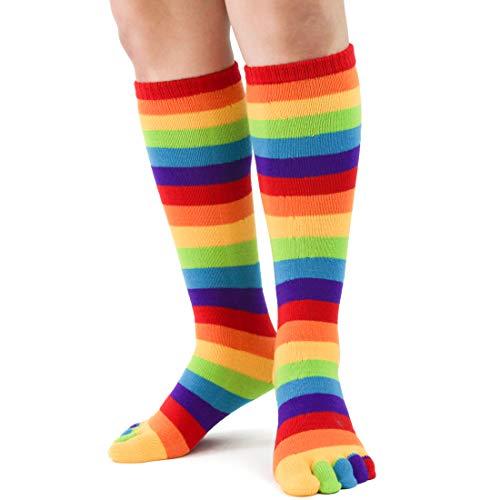 Foot Traffic, Toe Socks, Rainbow