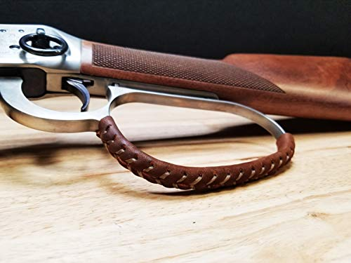 D4 Guns Handcrafted Large Loop Leather Lever Wrap (Light Brown/Dark Brown)