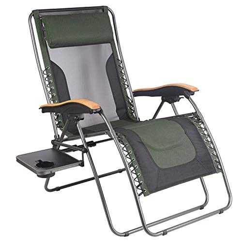 PORTAL Oversized Mesh Back Zero Gravity Recliner Chair, XL Padded Seat Adjustable Patio Lounge Chair...