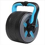 UYIDE Home Rodillos de ejercicio abdominal, rueda gigante silenciosa y rueda abdominal, pérdida de peso para hombres y mujeres equipo de entrenamiento para abdominales, color azul