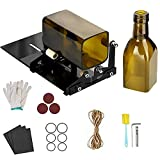 Glass Bottle Cutter, Wine Bottle Cutter19-Piece Upgraded Version, Square and Round Wine Beer Glass Sculpture Cutter, Used to Make Square Lights, Candle Lights, Vases, Etc.