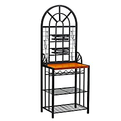 Best bakers rack for kitchen with wine storage 9 Kitchen Affairs
