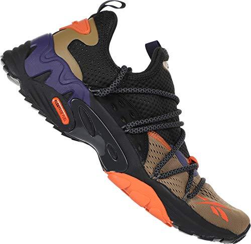 Reebok Men's TRIDECA 200 Running Shoes (10.5, Thatch/Firey Orange/Midnight Ink)