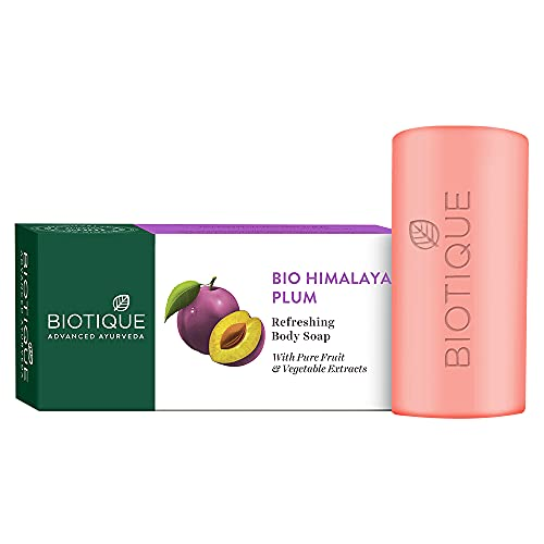 Biotique Bio Himalayan Plum Refreshing Body Soap (150g) I With Pure Fruit & Vegetable Extracts I To Promote Healthy Skin I Acne Prone Skin Enhance The Clarity, Glow, Softness Of The Skin