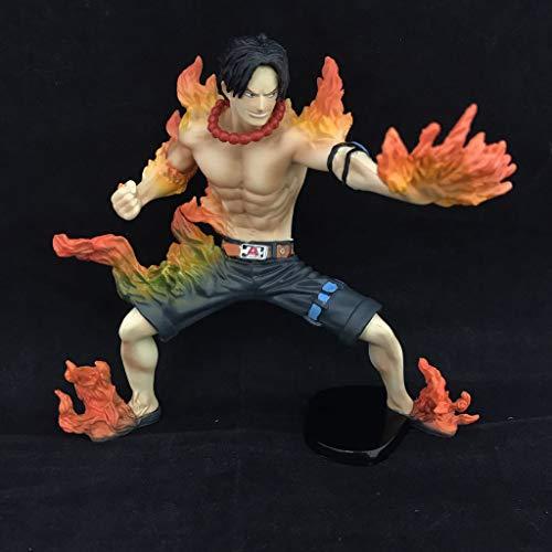Lianlili Estatua de Juguete Modelo de Juguete de una Pieza Exquisito Anime Decoración Decoración Quema de Frutas Habilidad/Puño de Fuego Ace 13CM