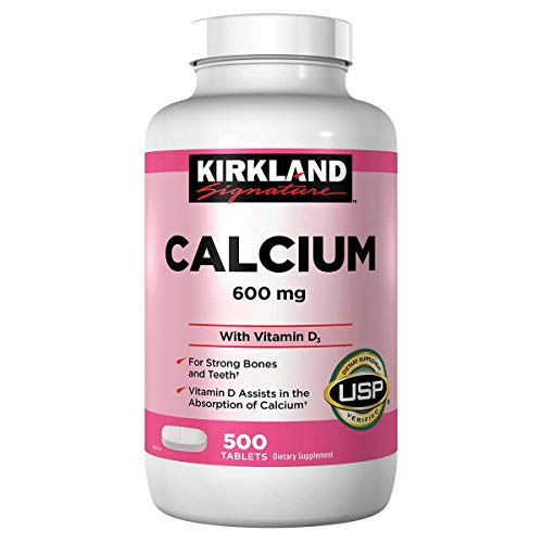 Kirkland Signature, Calcium 600 mg + D3 500 Count KZIxv (Pack of 2)