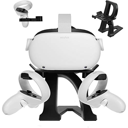 New Upgrade VR Letter Modeling Stand for Oculus Quest, Headset Display Holder and Controller Holder Mount Station for Oculus Rift S/Vive Pro/Valve Index VR Headset and Touch Controllers