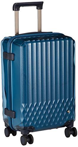 [ハント] スーツケース ソロ 機内持込み可 約1~2泊 32L クリア素材 キャスターストッパー付 ワイヤーコード付 ラゲージカバー付 06556 ダブルホイル 機内持ち込み可 48 cm 3.1kg トパーズブルー