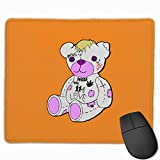 Lil Peep Bear Gaming Mouse Pads Non-Slip Rubber Base Square Mat for Desktops Computer Laptops