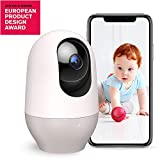 Baby Monitor,WiFi Camera,Nooie 1080P FHD indoor Wireless IP Camera Home Security Pet Monitor Motion Tracking Super IR Night Vision Two-Way Audio Motion and Sound Detection,Compatible with Alexa