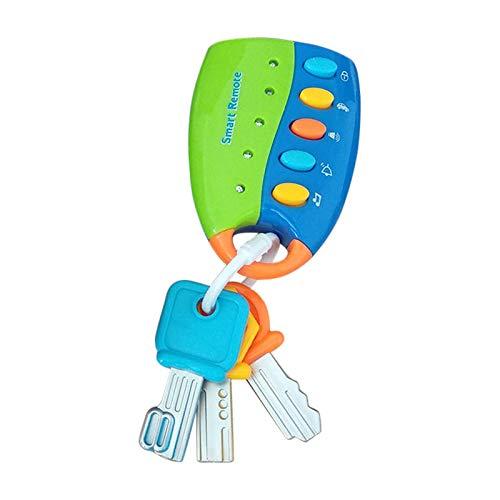 Carremark Cartoon Baby Kinder Musikalische Intelligente Fernbedienung Autoschlüssel Spielzeugauto Stimmen Pretend Play Spielzeug