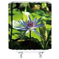 ホットセールフラワーシャワーカーテン春カラフルな花の植物の風景バスルームの装飾防水ポリエステル布カーテン - 180X230CM