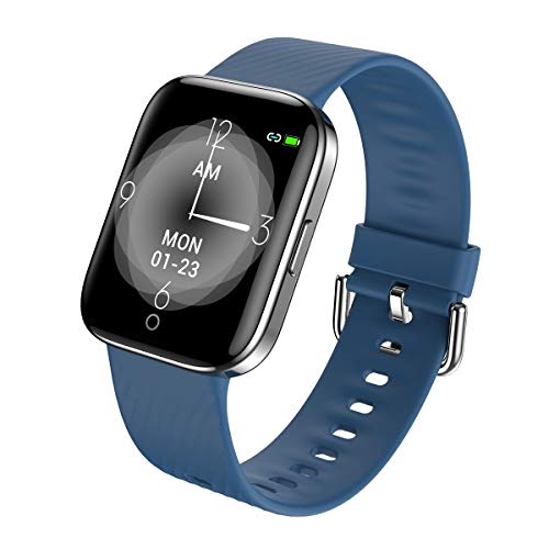 LICEYOO Activity Tracker Heart Rate Monitor Fitness Tracker Step Counter Calorie Counter with 17 Sports Modes Connected GPS Ultrathin Strap Long Battery Life Waterproof Smart Watch for Women and Men