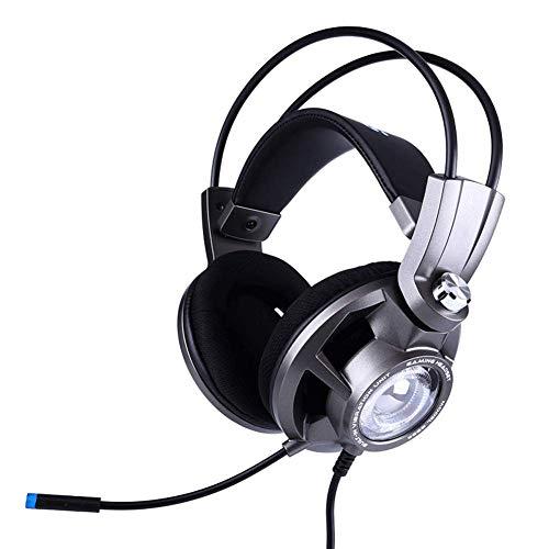 WAJI Geeignet für PC-Gaming-Headset, aktualisierte Version von PS4, 7.1-Surround-Sound-Headset mit Mikrofon-LED-Rauschunterdrückungssteuerung