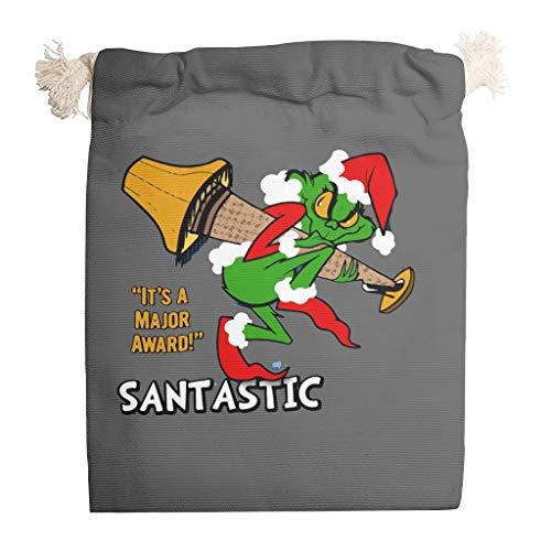 6pcs Grin-ch Casarse Navidad cordón bolsa de lona lavable juguete bolsa traje para Acción de Gracias boda regalos Wrap - Carácter de Navidad Candy Bag, blanco (Blanco) - Toomjie-STB