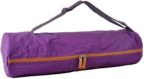 Bolsa de yoga »Sunita«, talla L de #DoYourYoga / Fabricada con lienzo (lona) de gran calidad, con un laborioso acabado / Para esterillas de yoga y de gimnasia EXTRAGRANDES de hasta 186 x 63 x 0,6 cm / disponible en 9 preciosos colores.