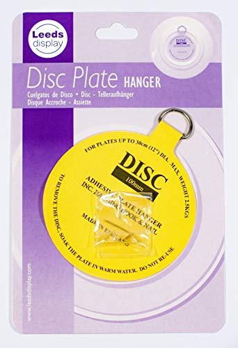 Gancio per disco piatto: adesivo invisibile 100 mm gancio: 12 cm a 30 cm, 4.5 a 12 inch