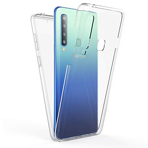 Kaliroo Handyhülle 360 Grad kompatibel mit Samsung Galaxy A9 2018, Full-Body Schutzhülle Hardcase hinten und Bildschirmschutz vorne mit Silikon Bumper, Full-Cover Hülle Komplett-Schutz Hülle - Transparent
