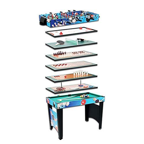 """Mesa Multijuegos Mesa de juego Multi Juego 12 en 1 COMBO juego mesa de mesa Tabla de entretenimiento 42 """"con mesa de mesa de mesa de ping pong de fútbol foosball mesa de hockey ajedrez aliquito bolos"""