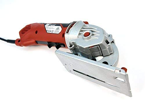 Rotorazer Platinum Compact Circular Saw Set -Extra Powerful-Deeper Cuts! Guide Rail- DIY Projects- Cut Drywall, Tile, Grout, Metal, Pipes, PVC, Plastic, Copper AS SEEN ON TV (Renewed)