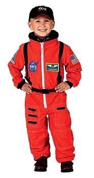 Aeromax Jr Astronaut Suit with Embroidered Cap Size 8/10 Orange