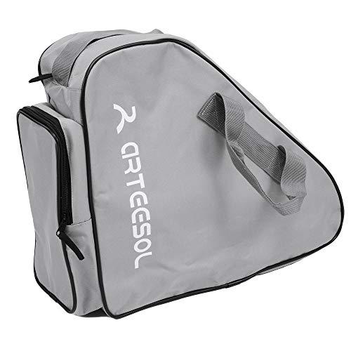 arteesol Rollschuhe Tasche, Inliner Tasche, Schlittschuhe Tasche, Skatertasche für Kinder/Erwachsene(Hellgrau)