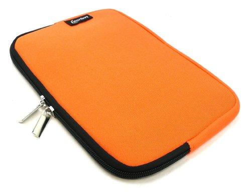Emartbuy® Archos 80 Cesium 8 Zoll Windows Tablet Orange Wasserfest Neopren weich Zip Tasche Hülle Sleeve (8 Zoll Tablet)