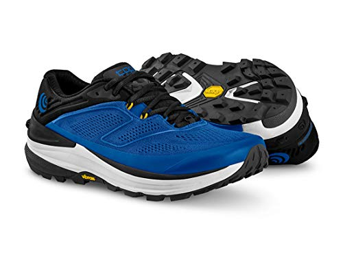 Topo Athletic Ultraventure 2 Comfortable Lightweight 5MM Drop, Athletic Shoes for Trail Running, Corredores de senderos Hombre, Azul grisáceo, 8 UK