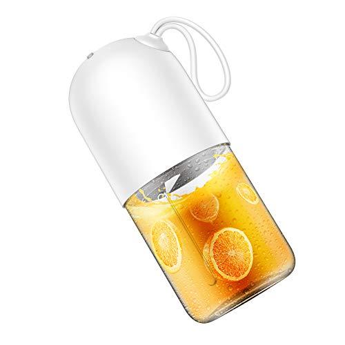 WSY Entsafter, 300ml tragbare elektrische Entsafter Mixer Mini Capsule Leistungsstarke Elektro Juice Cup für Reisen Trainingsraum Form